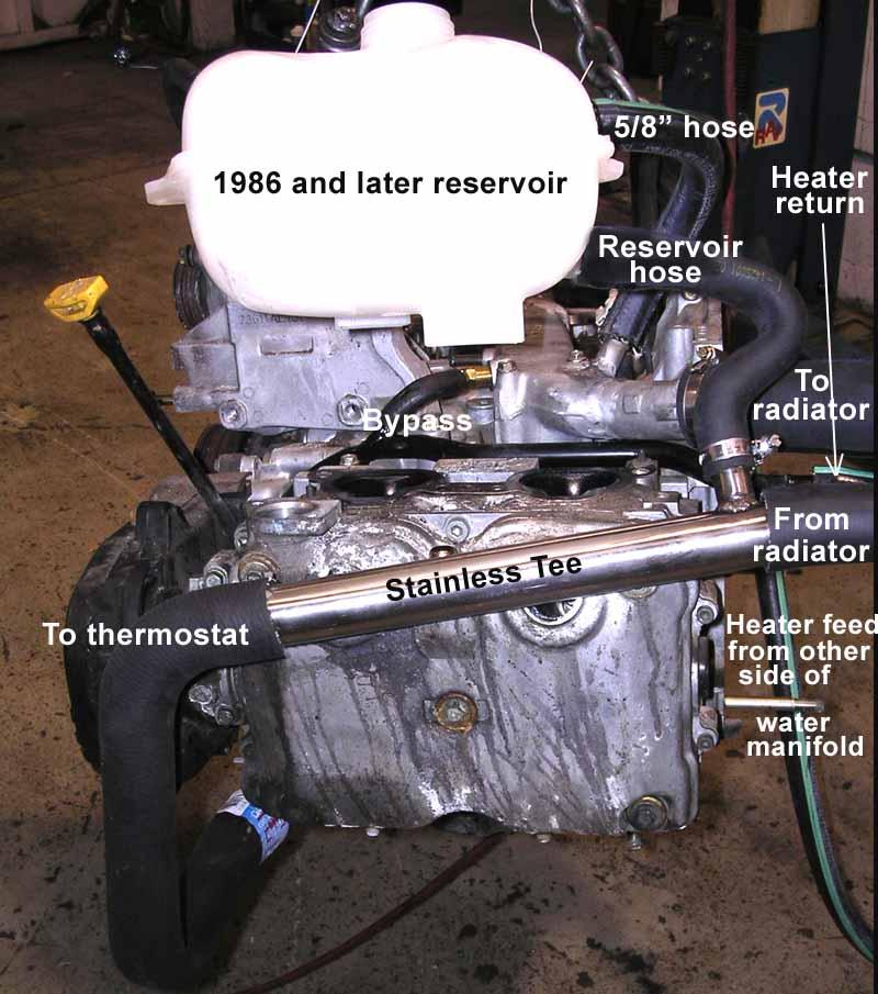 Vanagon    Subaru Conversion Parts    Reversed Coolant Manifold  U0026 Heater Pipe